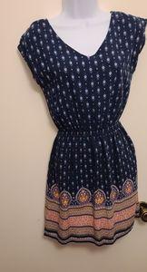 Super soft navy boho mini dress